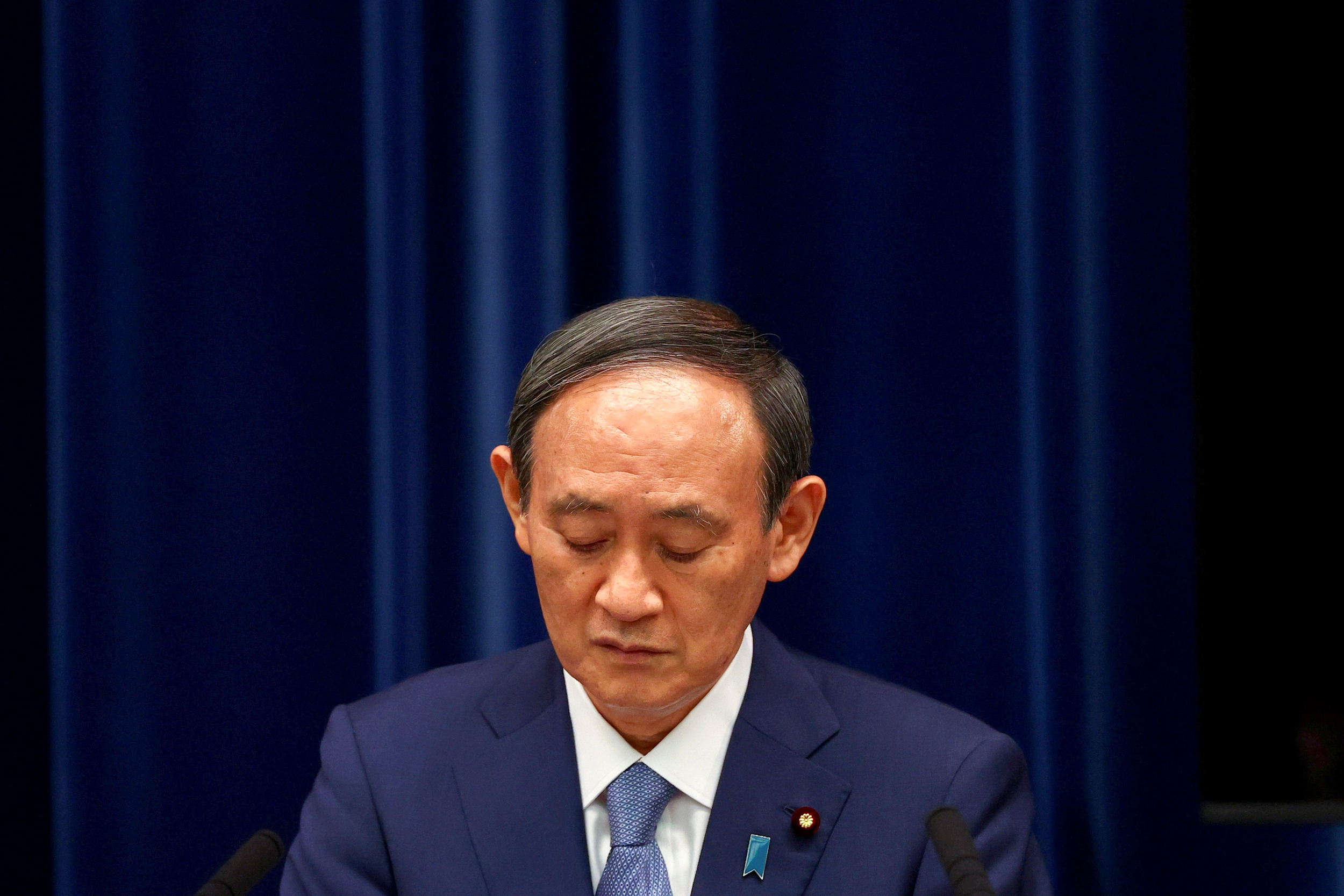 Japan's leader says he will step down after just a year in office