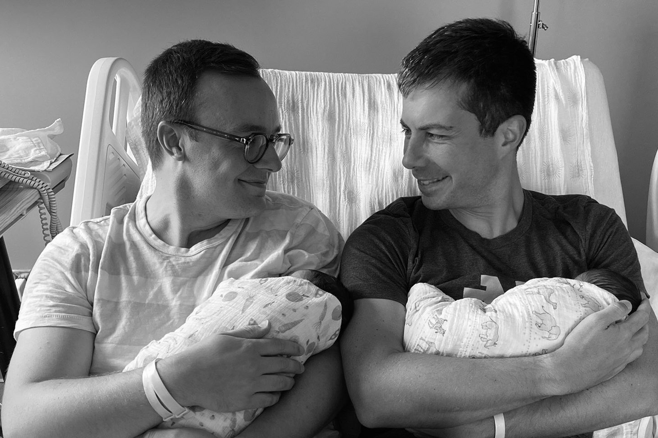 Pete Buttigieg and husband, Chasten, welcome two children into their family