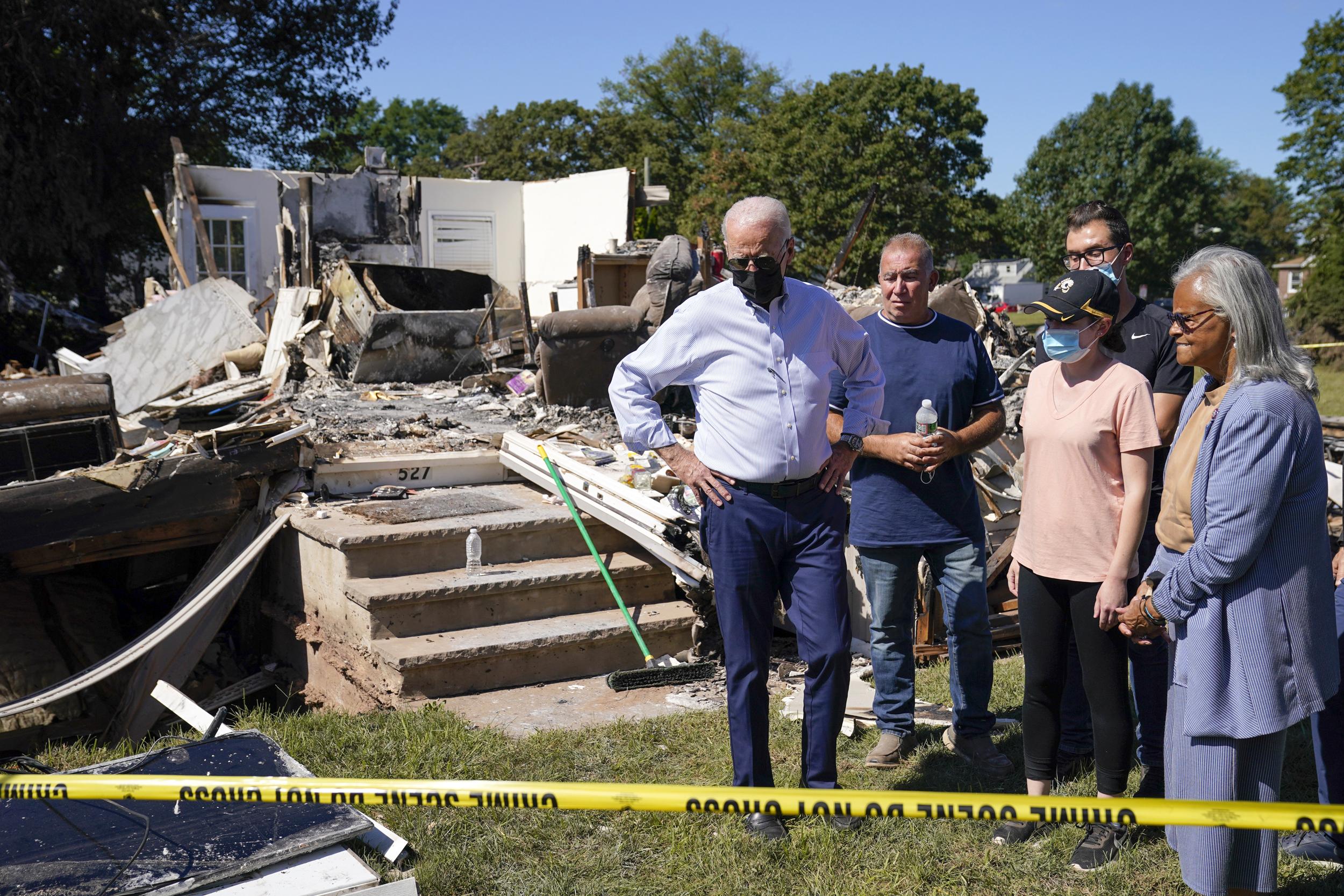 Biden tours Hurricane Ida damage in New York and New Jersey