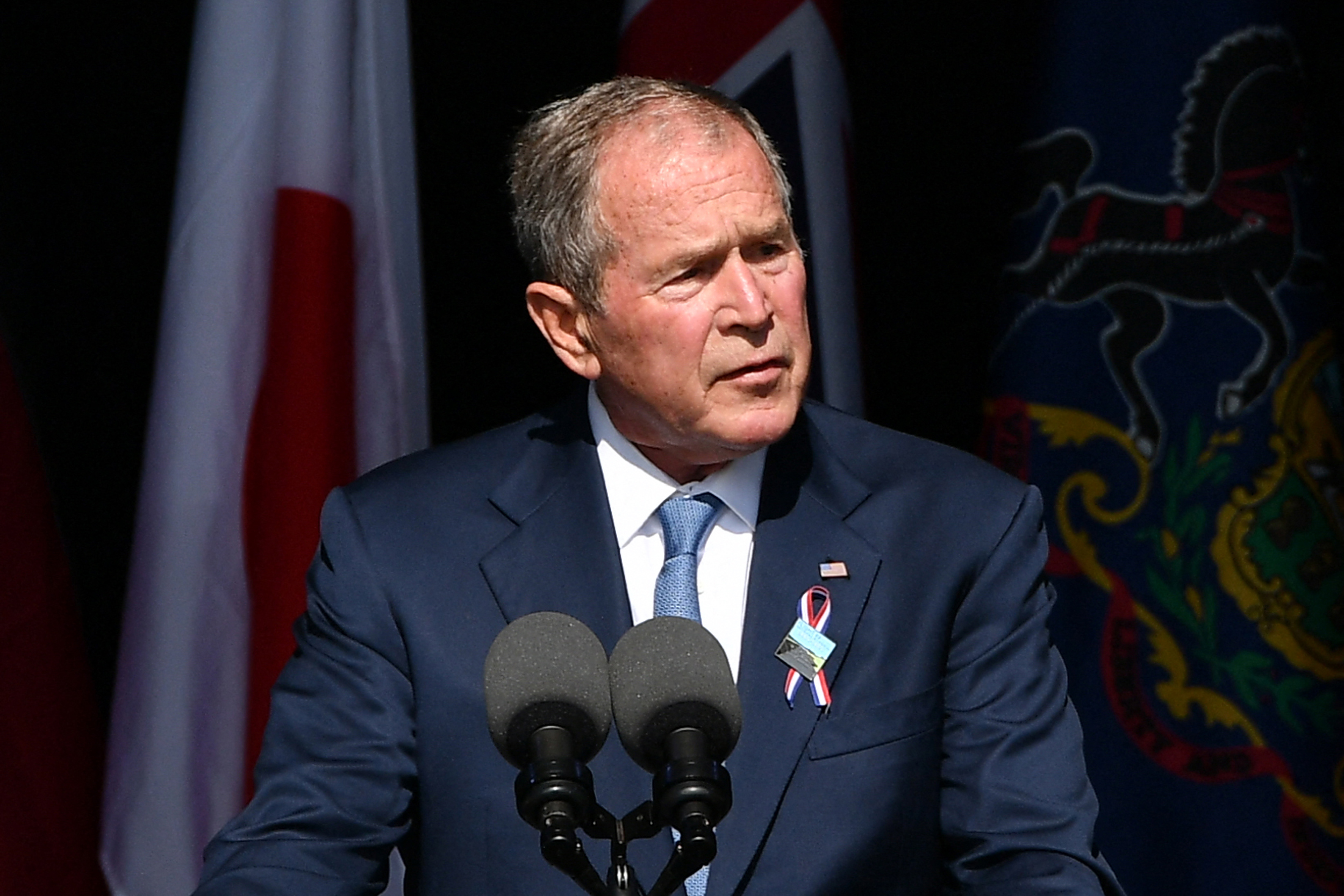 Bush calls out 'violent extremists at home' on 20th anniversary of 9/11