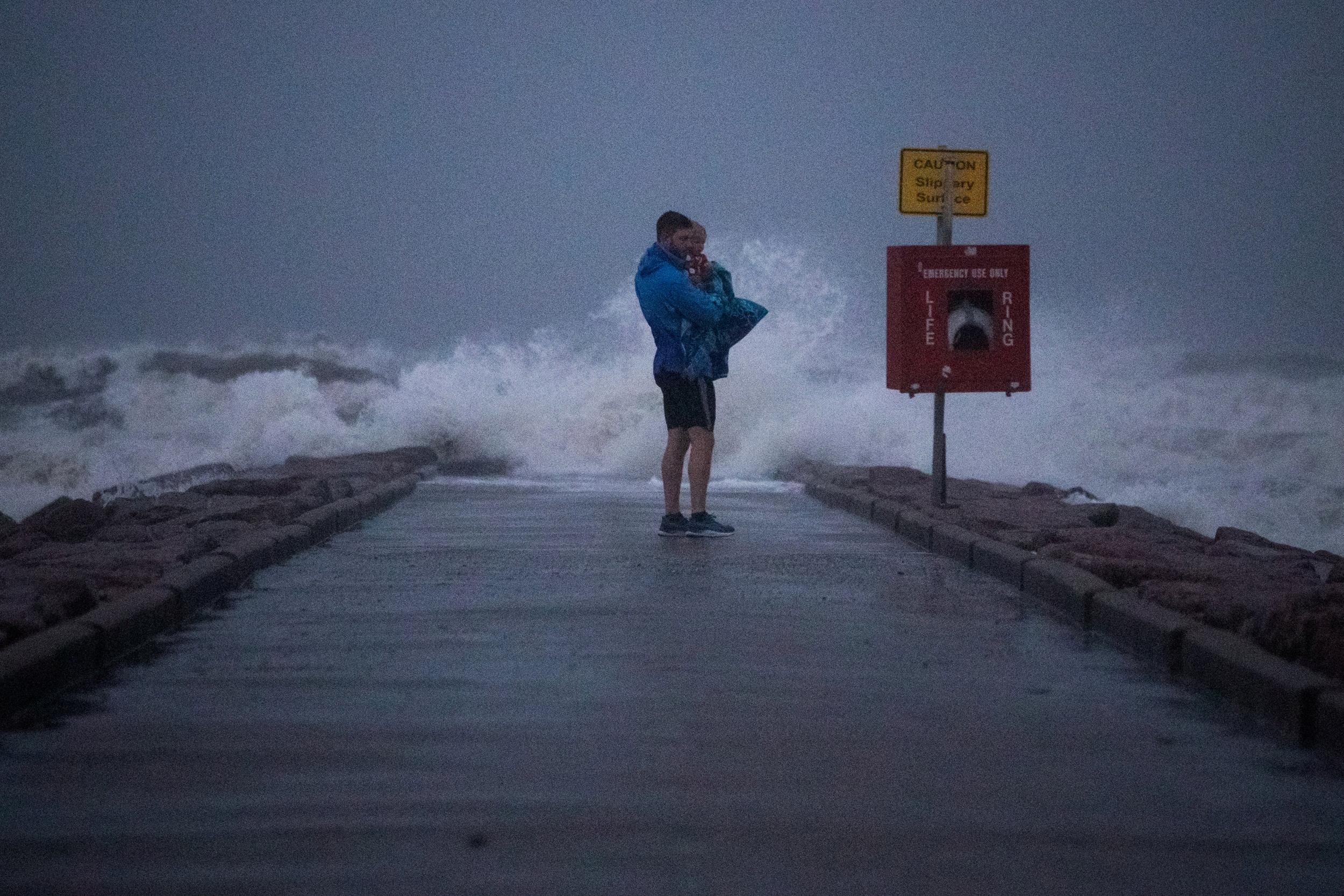 Nicholas, now a tropical storm, hits Texas coast with heavy rain and flood warnings