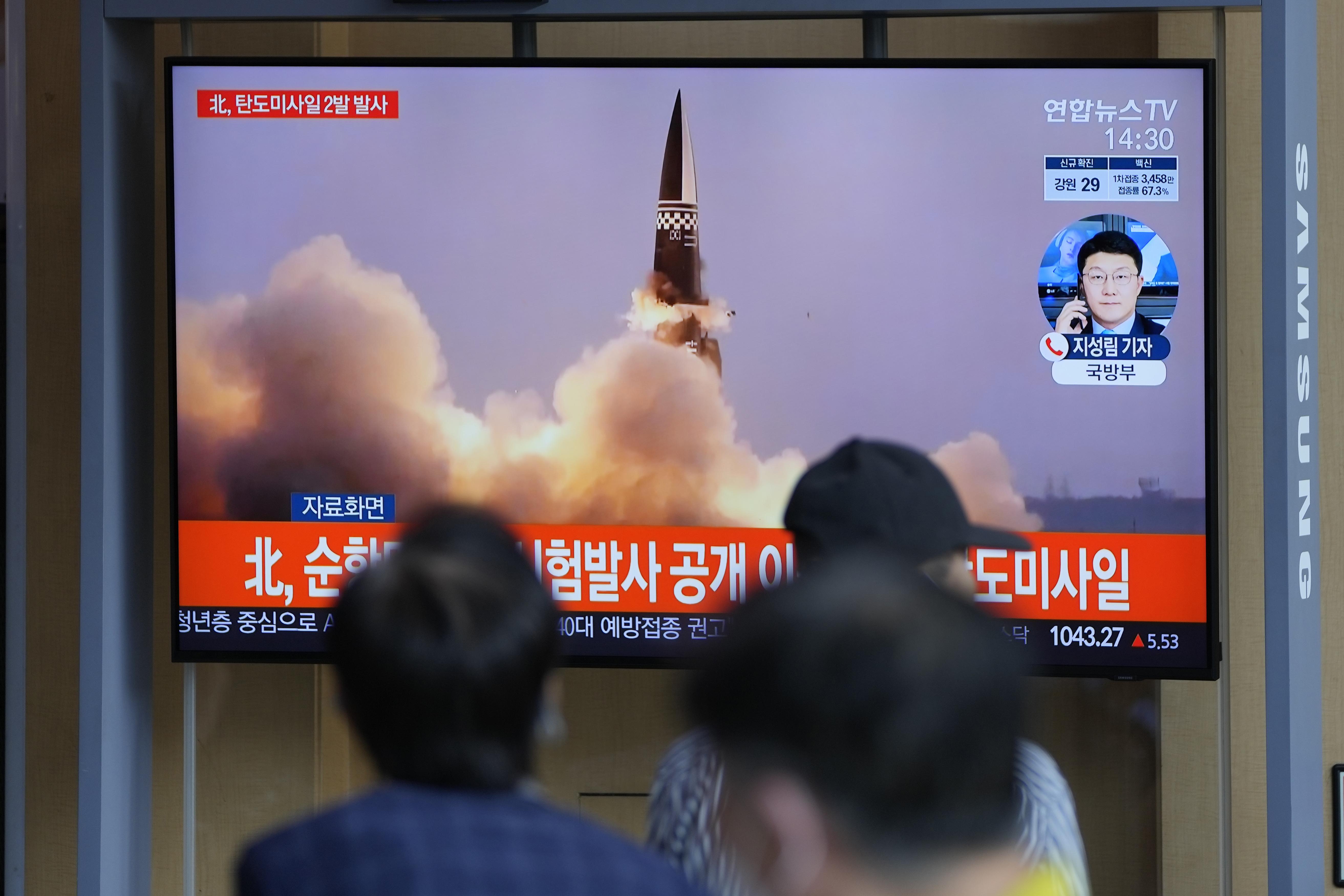 North Korea fires ballistic missiles amid stalled nuclear talks