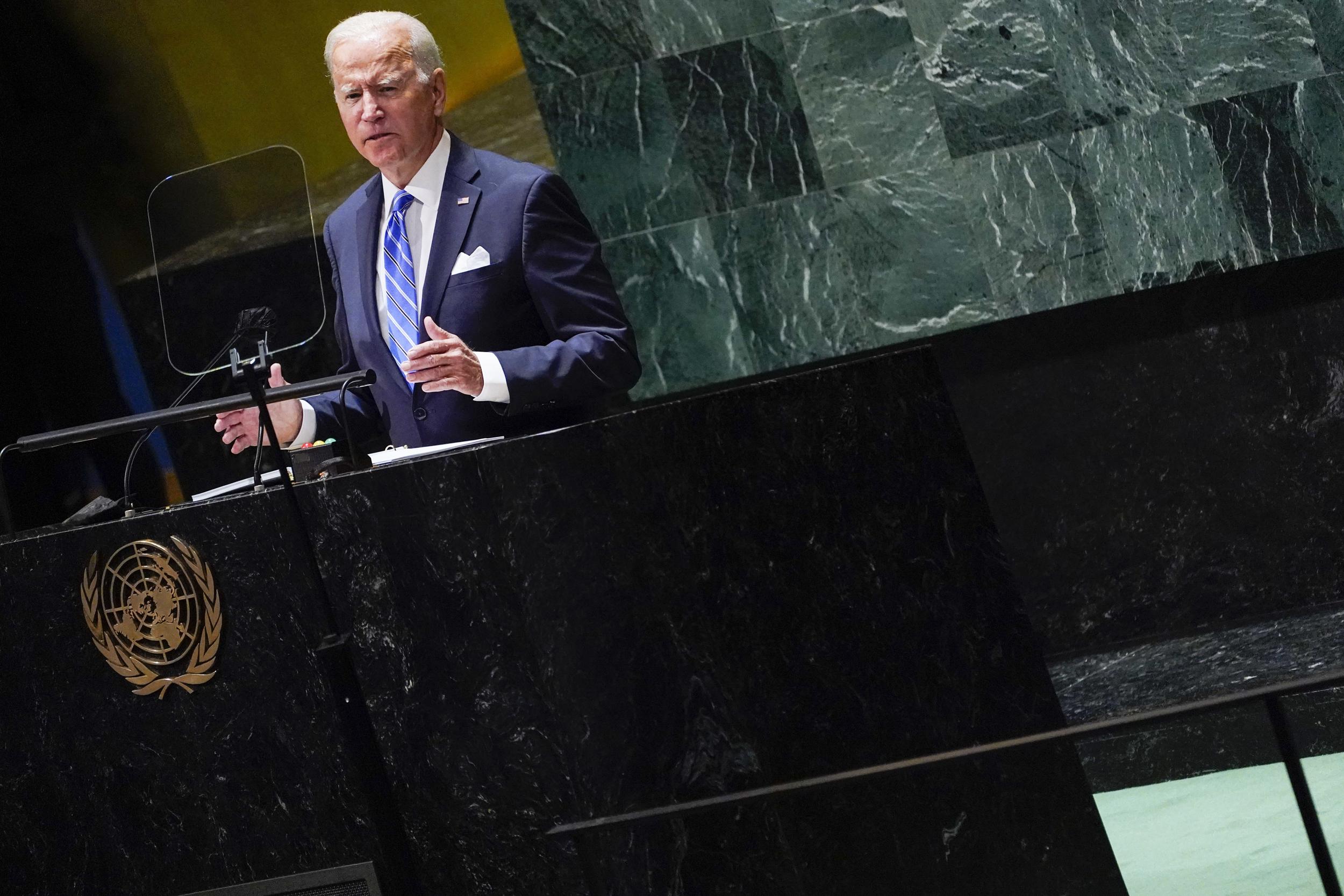 At the U.N., Biden makes a bid to repair strained alliances
