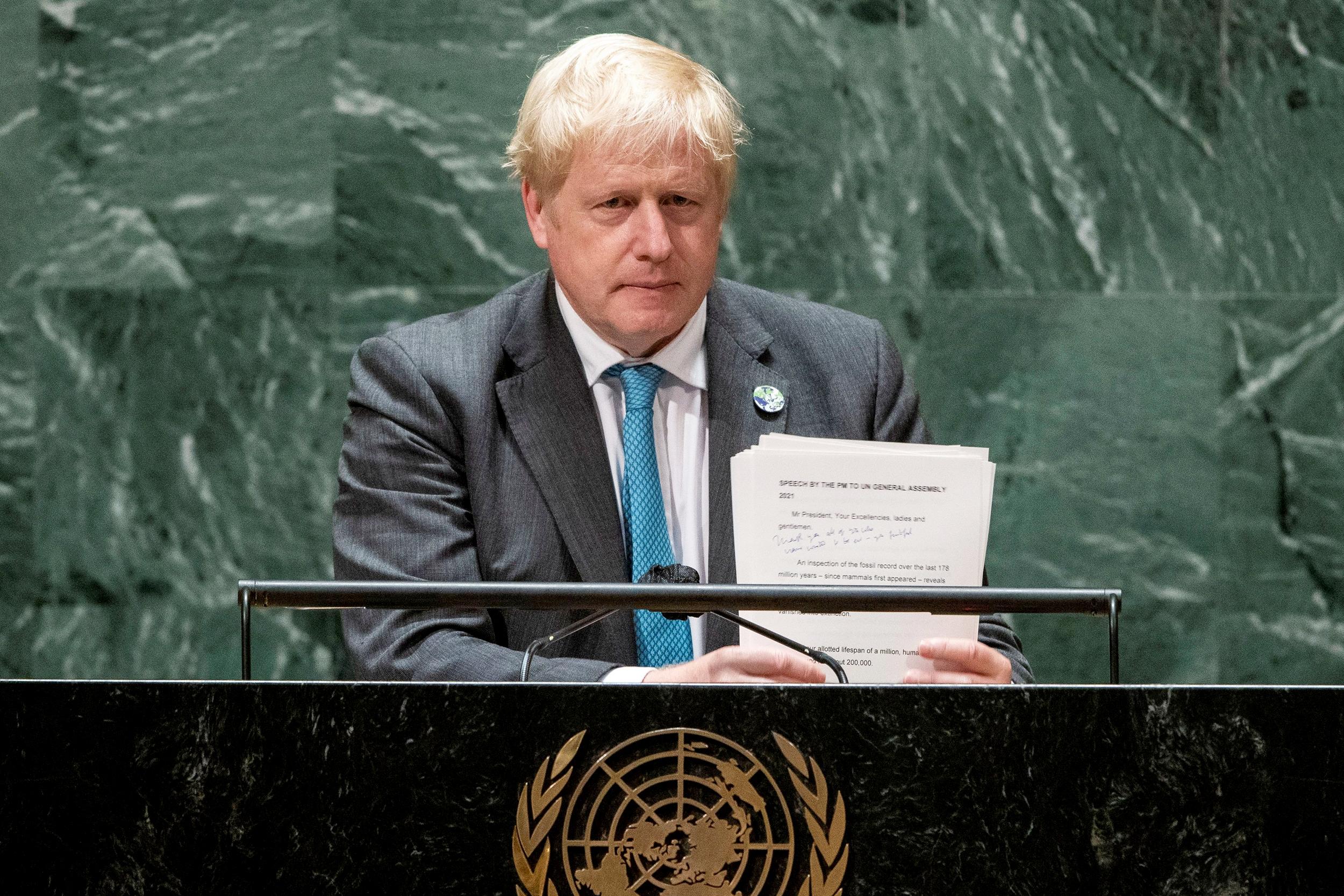 'Grow up': U.K.'s Boris Johnson says world must face climate change
