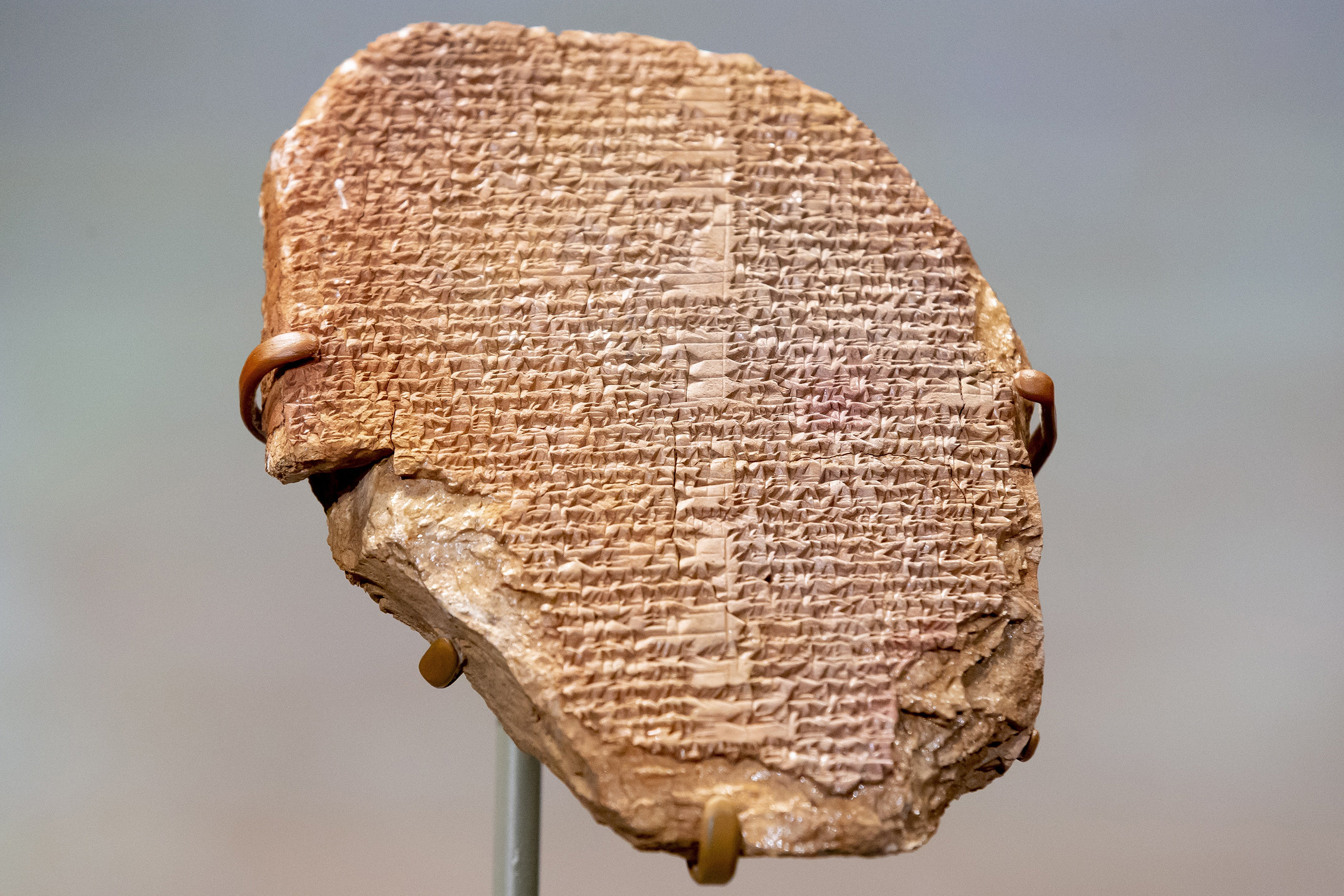 Ancient Gilgamesh tablet taken from Iraq and bought by Hobby Lobby is returned