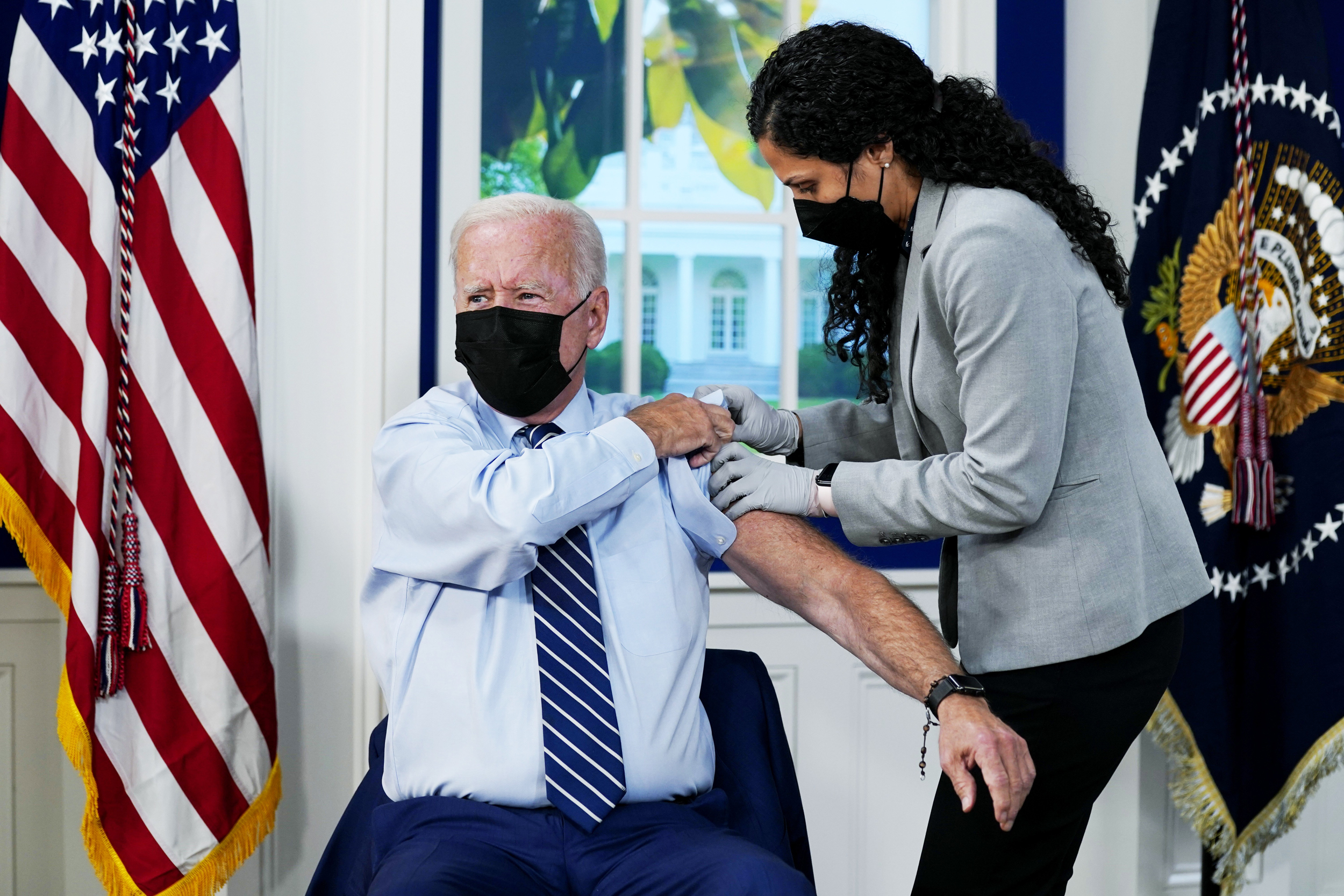Biden receives Covid-19 booster shot, days after CDC recommends a third dose for his age range