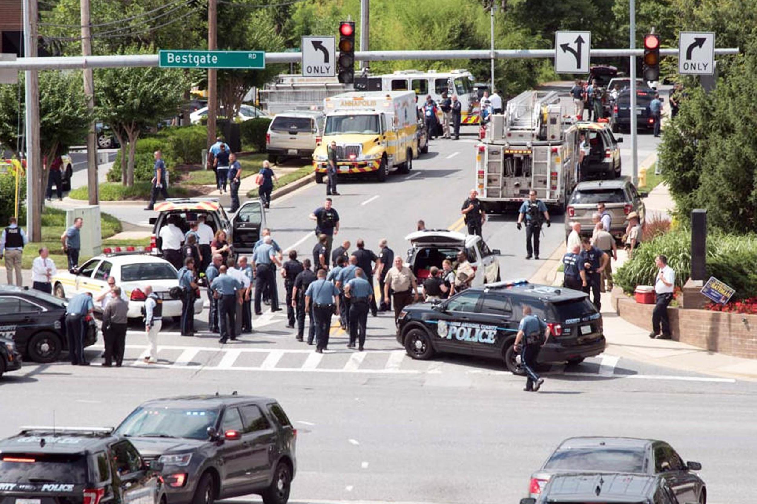Man who killed 5 at Maryland newspaper sentenced  to life behind bars
