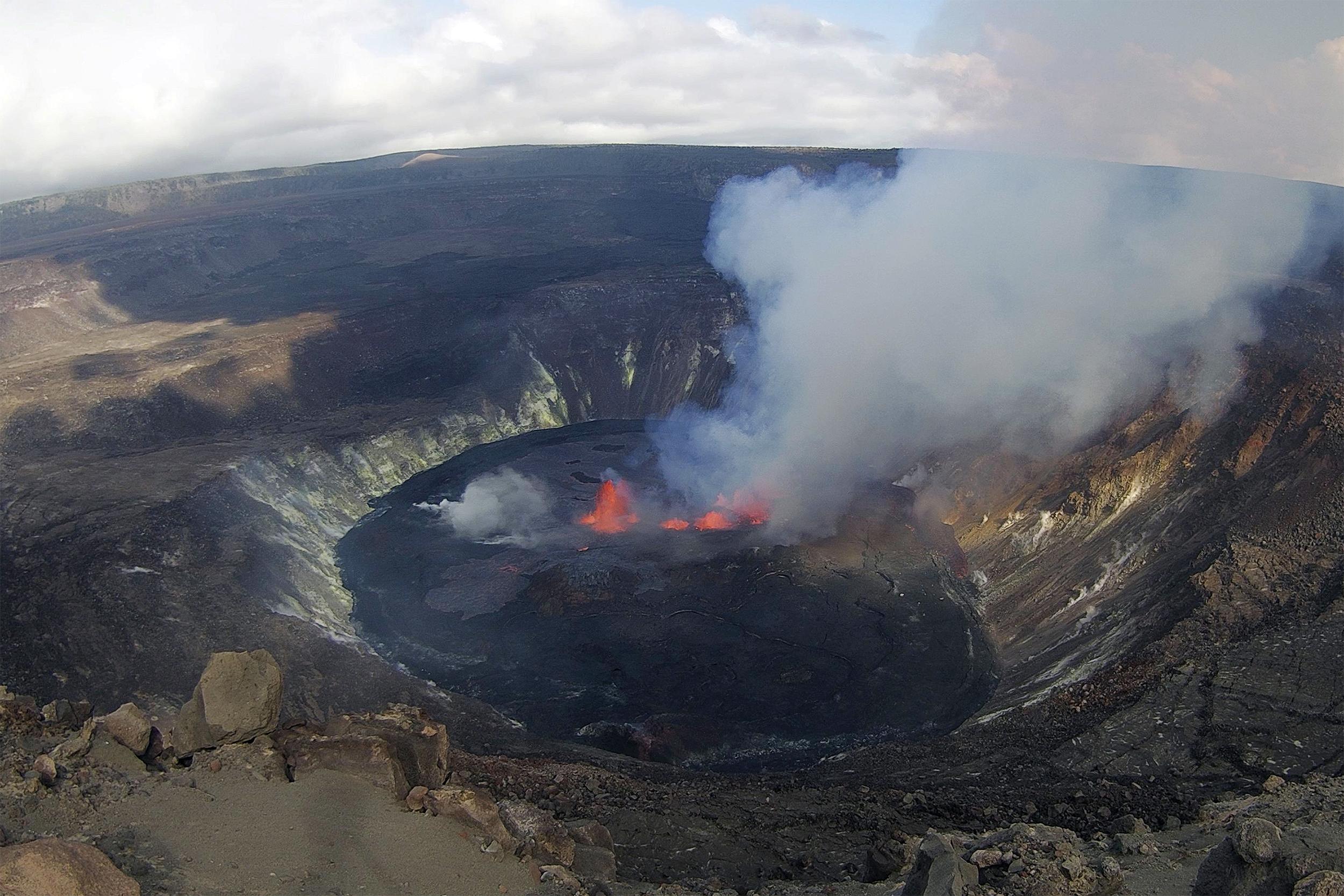Hawaii's Kilauea volcano erupts within national park