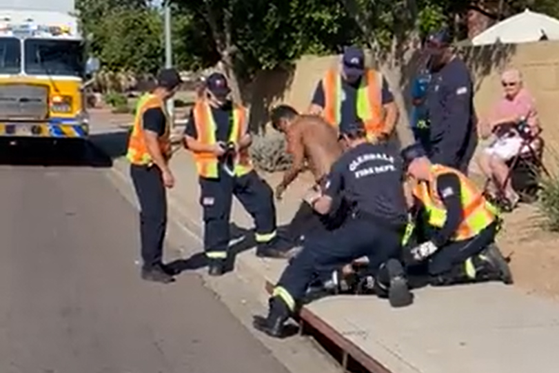 Man stuck in Arizona storm drain rescued after waving down help