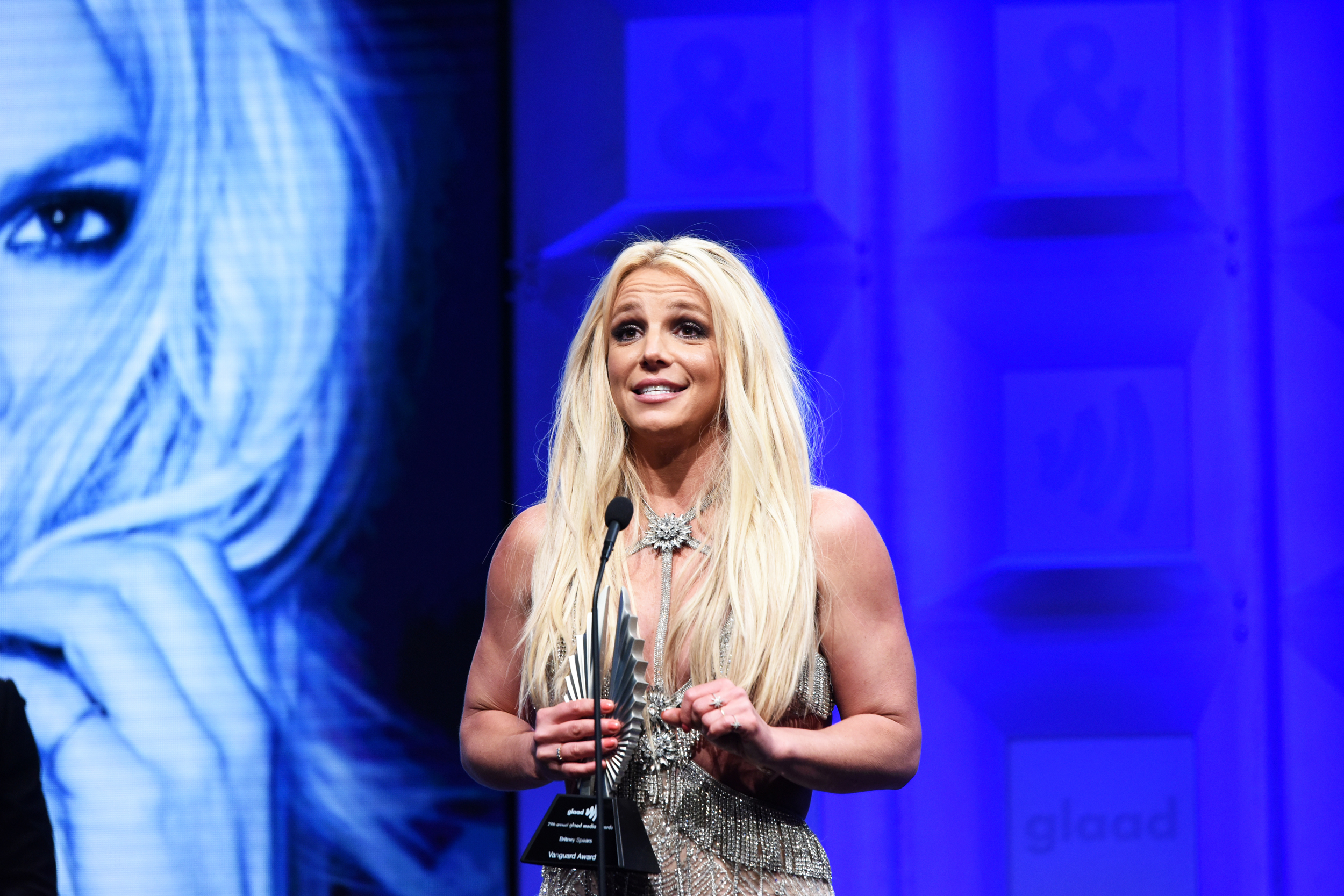 Britney Spears says she's healing after father is suspended as conservator