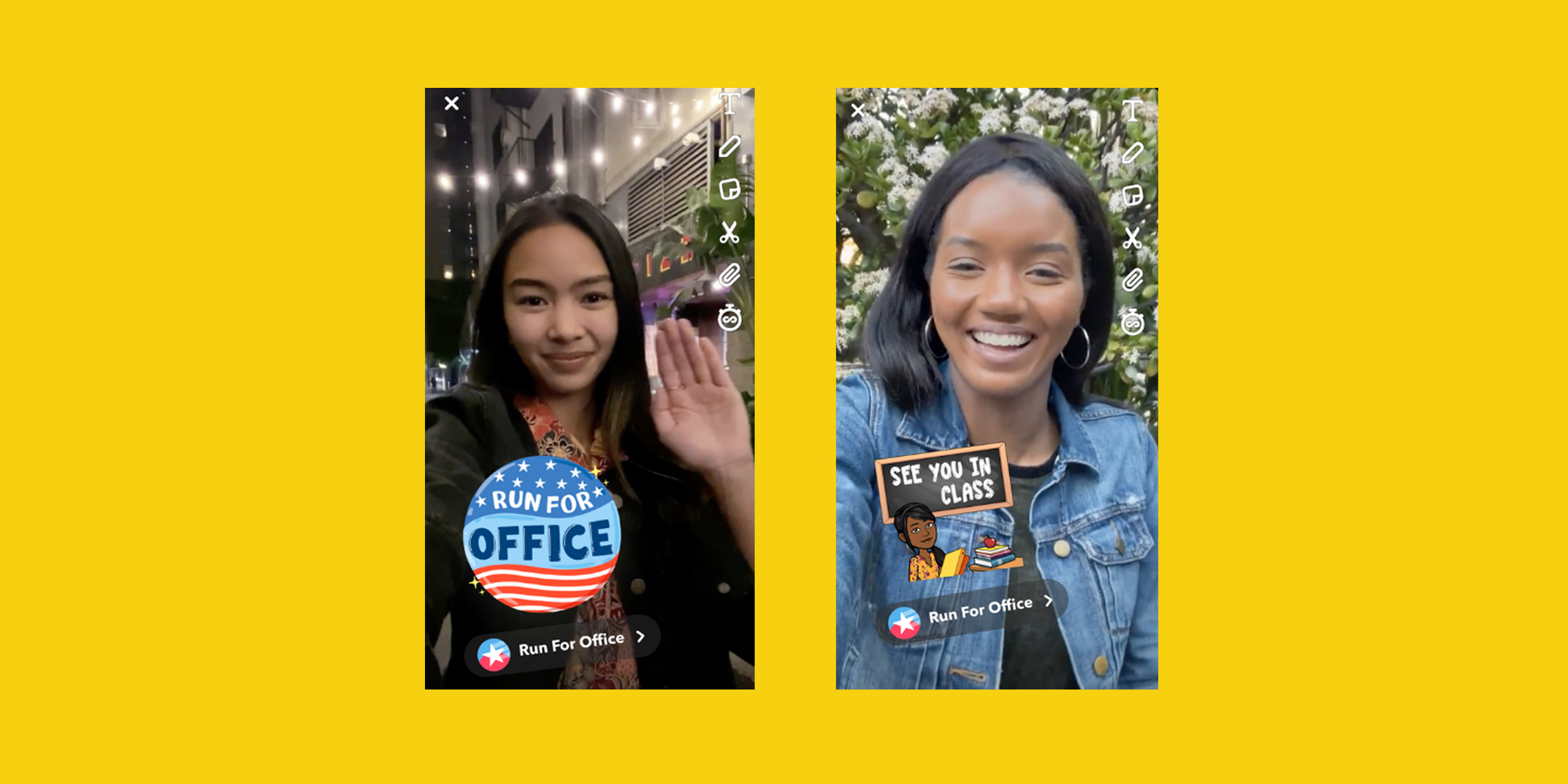 Snapchat introduces tool to help young people run for office