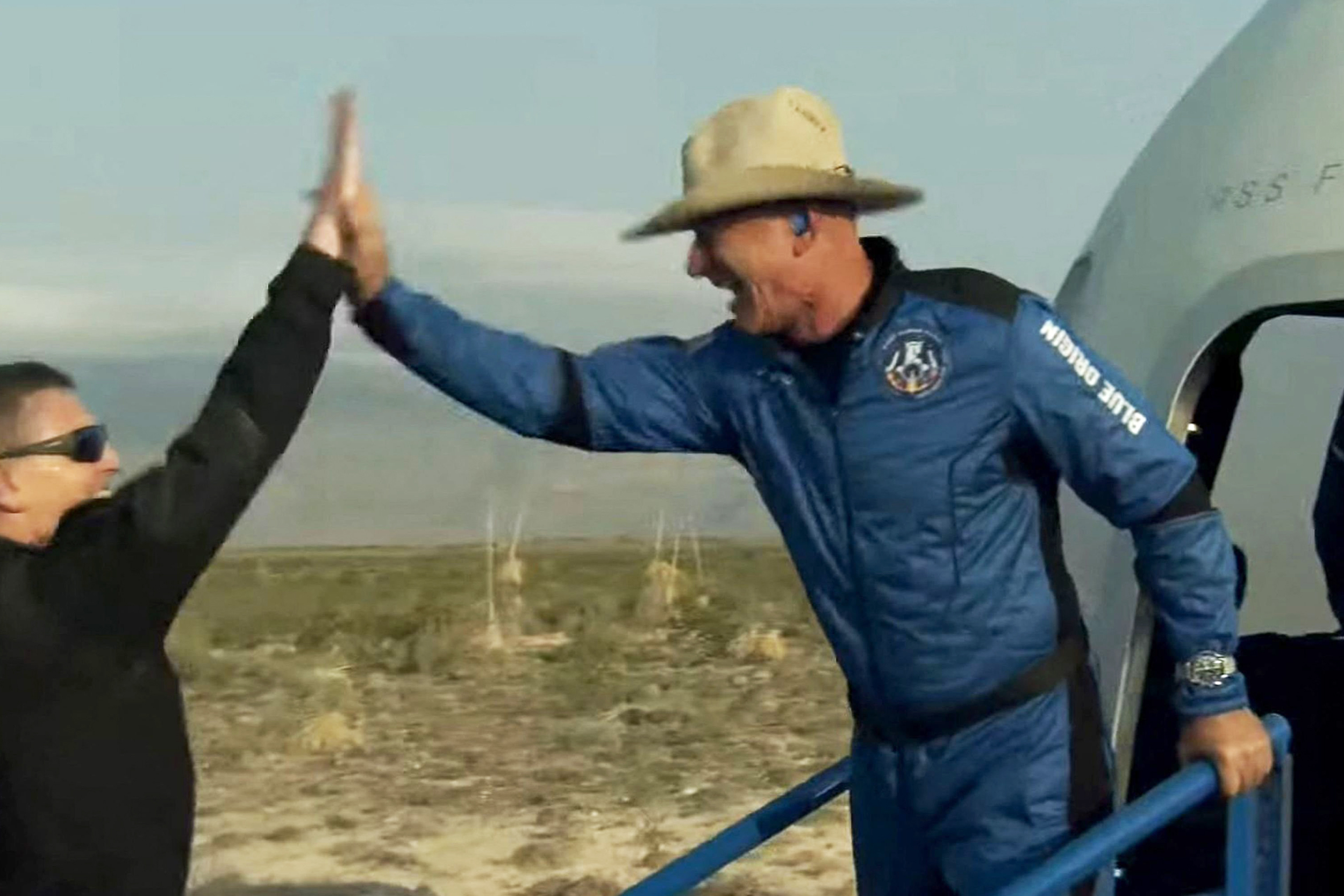 'There are no words': Bezos says space mission changed him, reinforces climate change fight
