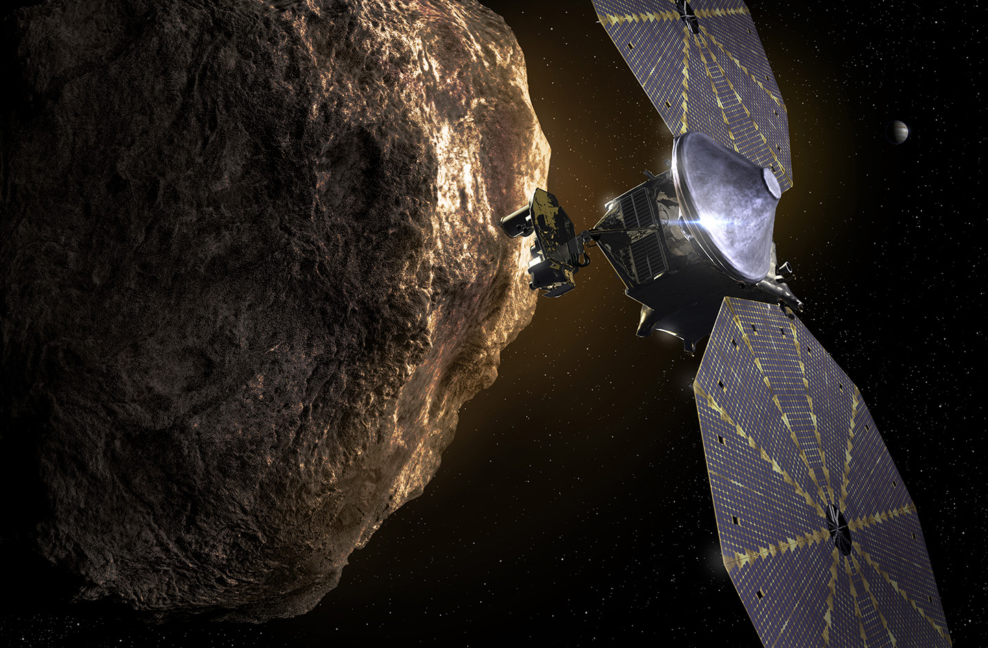 NASA preps Lucy mission to study Jupiter's Trojan asteroid swarms