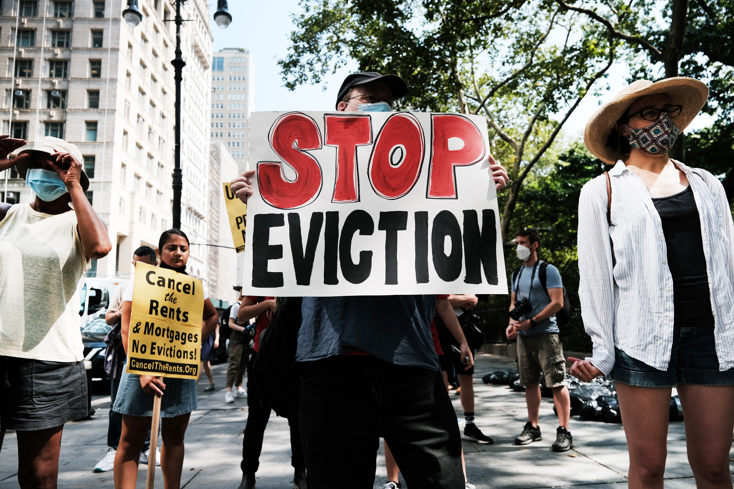 Half of LGBTQ people behind on rent fear eviction in next two months, report says