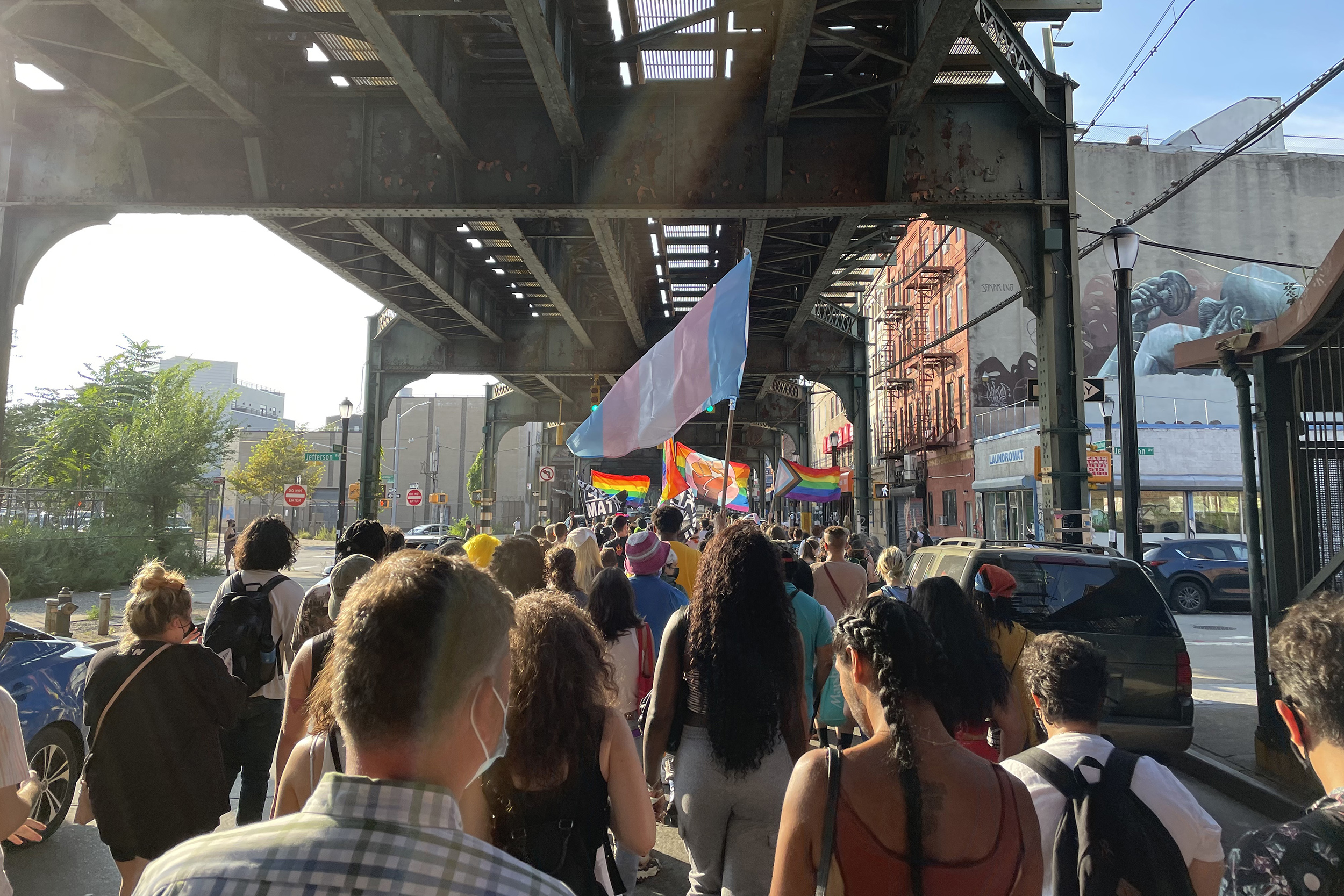 Protesters march in Brooklyn after two men attacked in alleged anti-gay assault