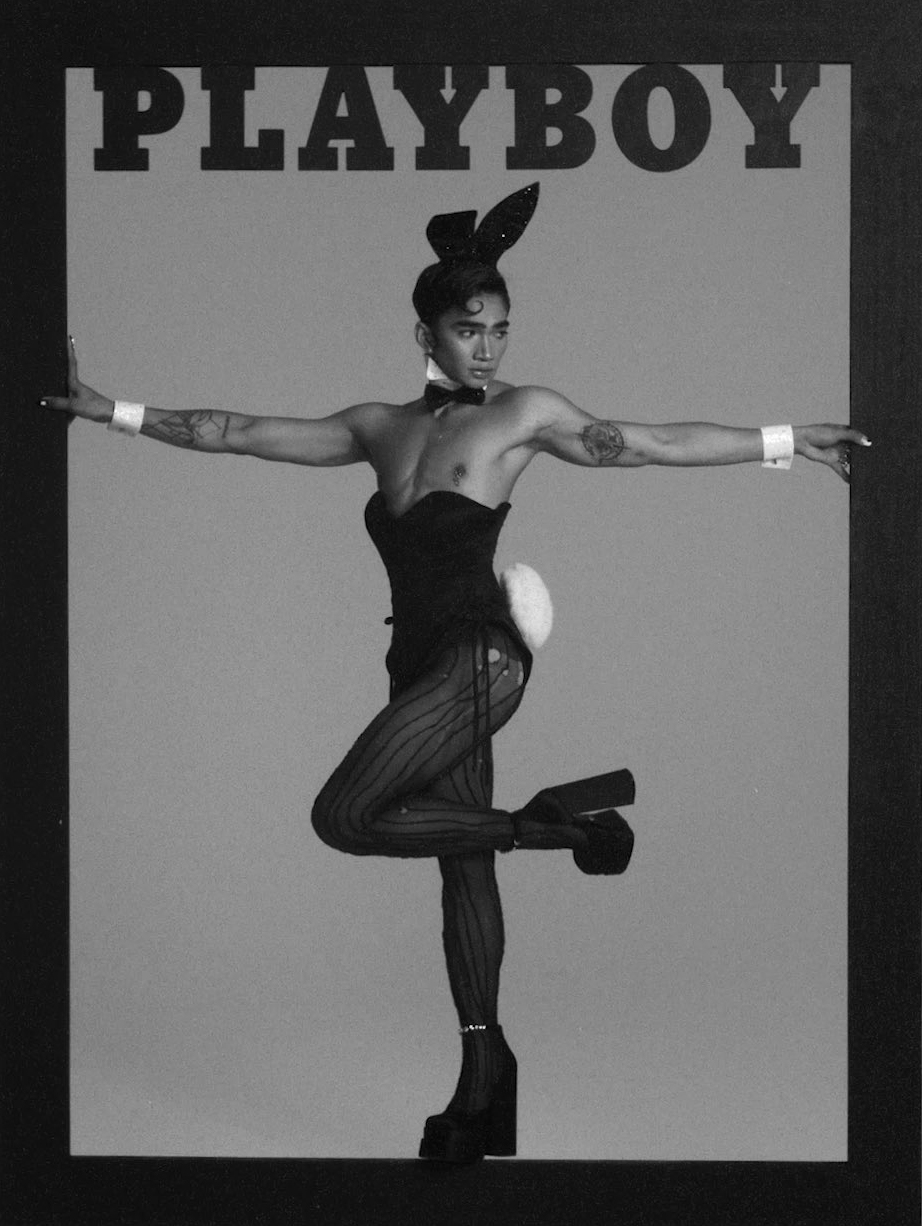 Bretman Rock poses as a Playboy bunny in history-making magazine cover