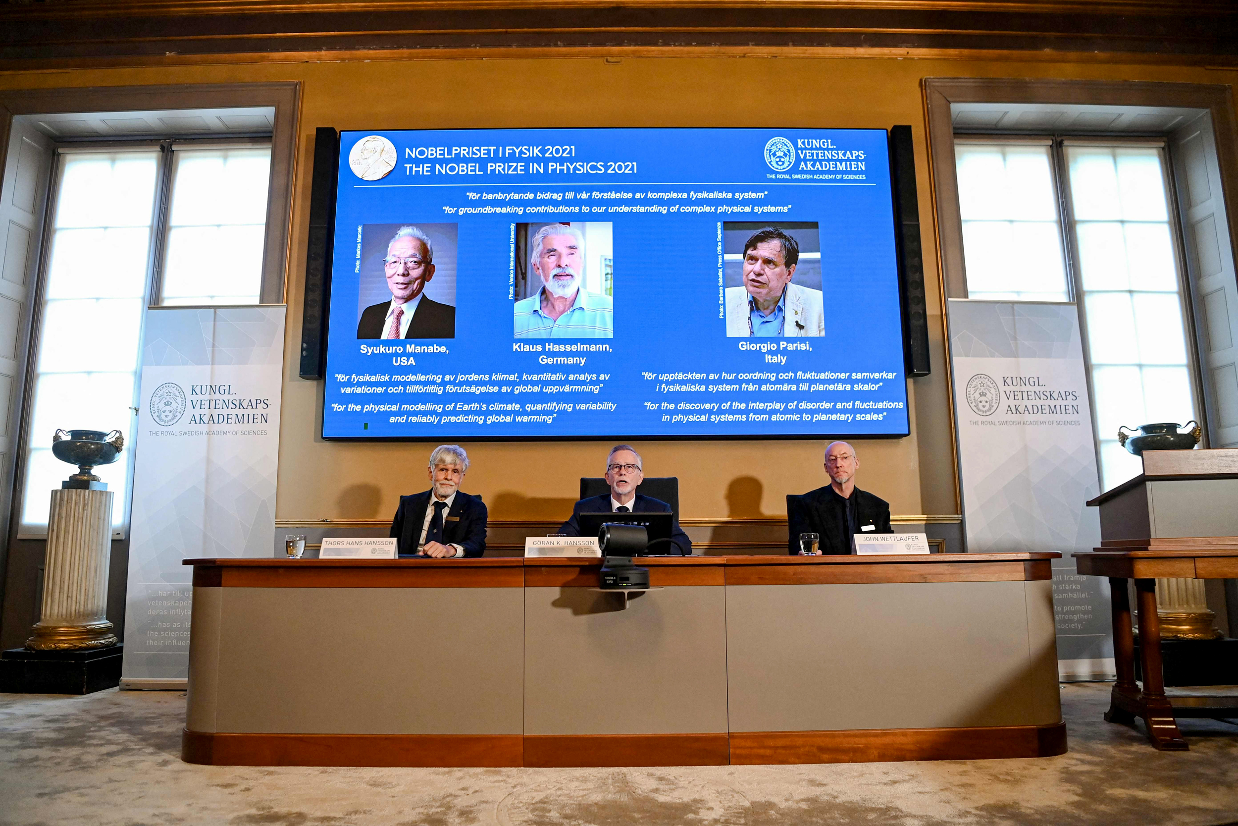 Physics Nobel awarded to scientists who helped in understanding of 'complex physical systems'