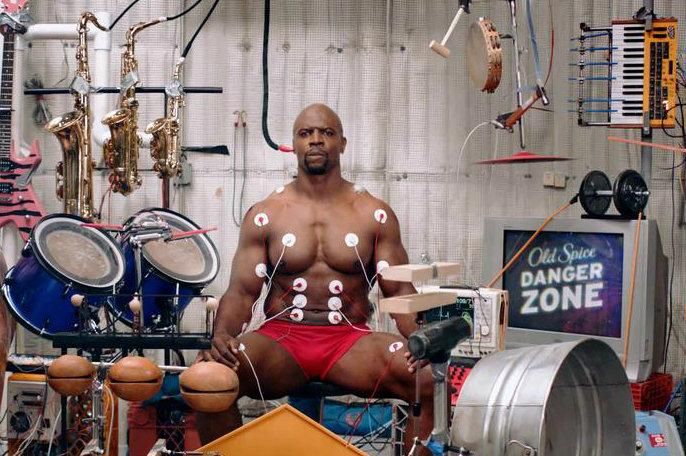 Help Terry Crews Play Music With His Muscles In Old Spice Video