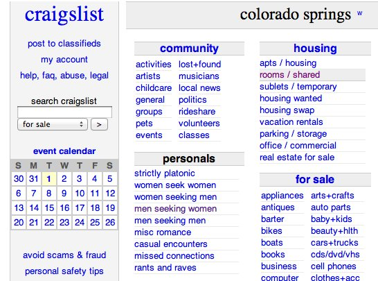 Craigslist dating sites