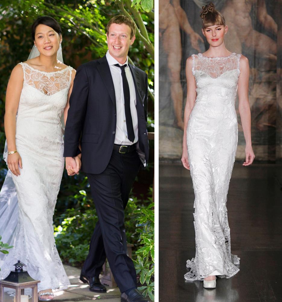 we like zuckerbergs bride wore a 4700 wedding gown