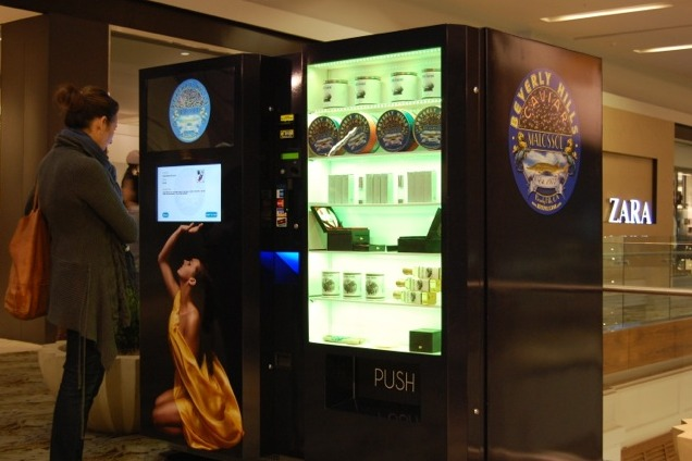 Caviar vending machines opened at three Los Angeles-area malls on Nov. 23. Each machine, operated by Beverly Hills Caviar, has about $50,000 worth of ...