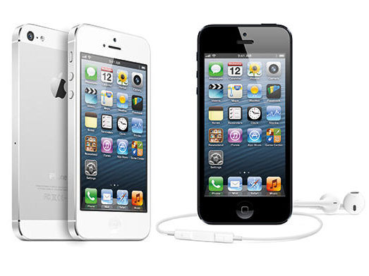 black and white iPhone 5 models