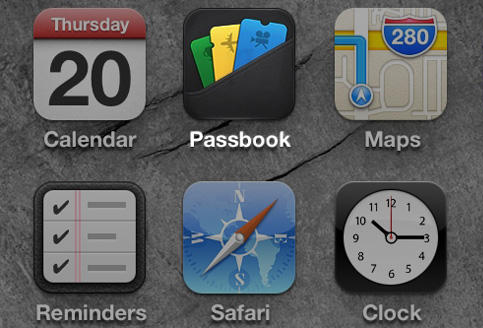 Passbook icon on iPhone