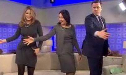 Dance move spank