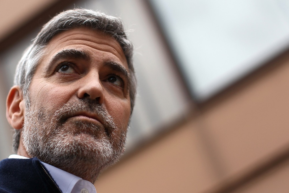 Actor George Clooney in a file photo from March 16, 2012 in Washington, DC.