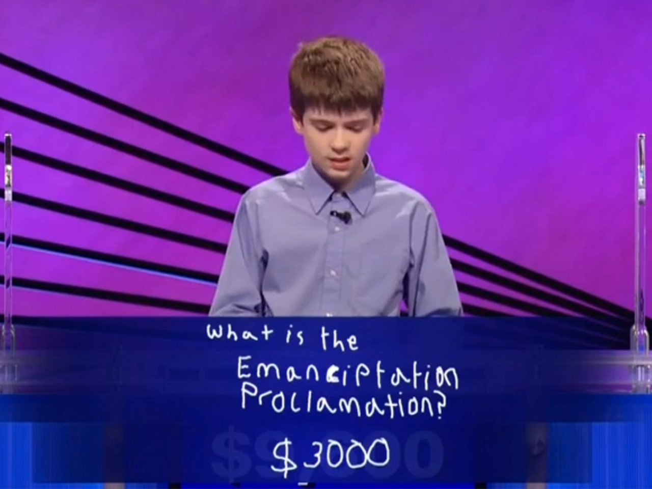 Thomas Hurley III on 'Jeopardy!'