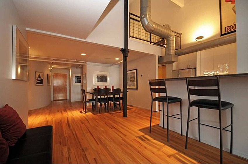 Measuring 2,000 square feet, the condo has 2 bedrooms, 2 baths and a private rooftop deck.