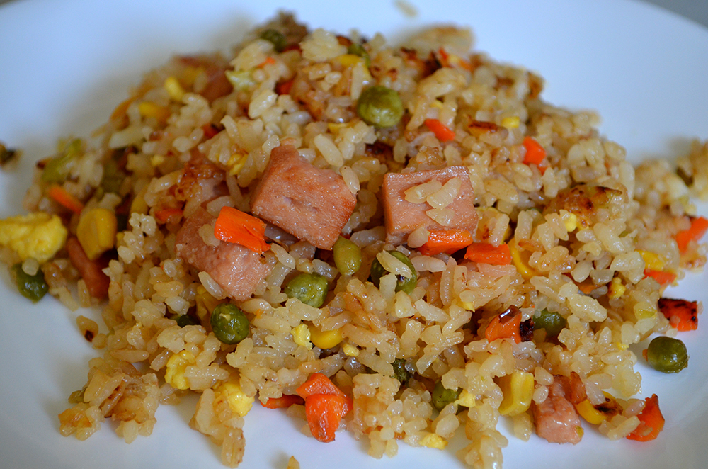 Spam fried rice won first place in the main-dish category.