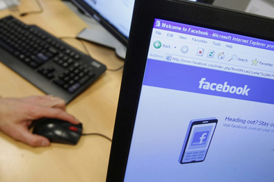 Facebook on computer