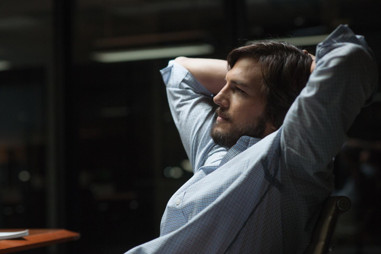 Ashton Kutcher as Steve Jobs in