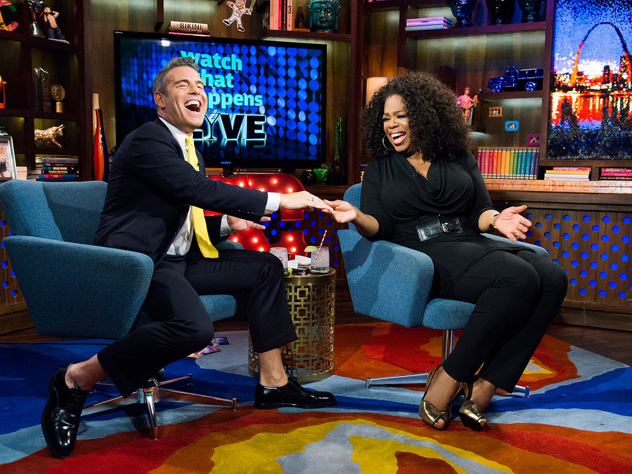 Image: Andy Cohen and Oprah Winfrey.