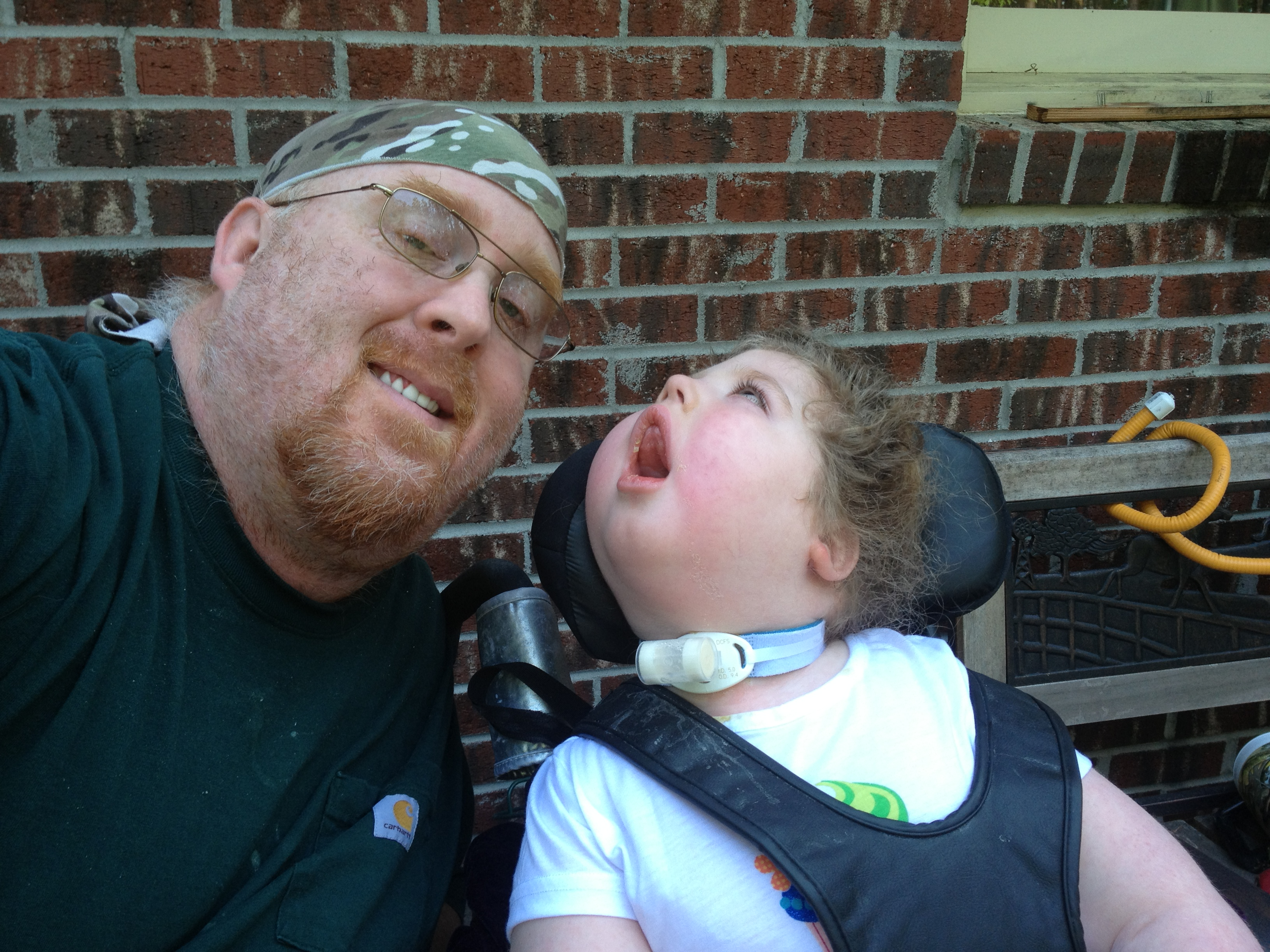 Daddy S Girl Ex Wrestler Devotes His Life To Caring For