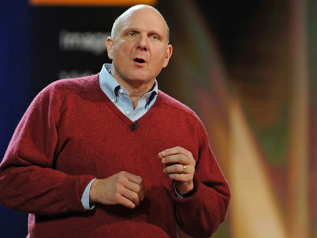 Microsoft CEO Steve Ballmer at 2010 International Consumer Electronics Show, January 6, 2010 in Las Vegas, Nevada.