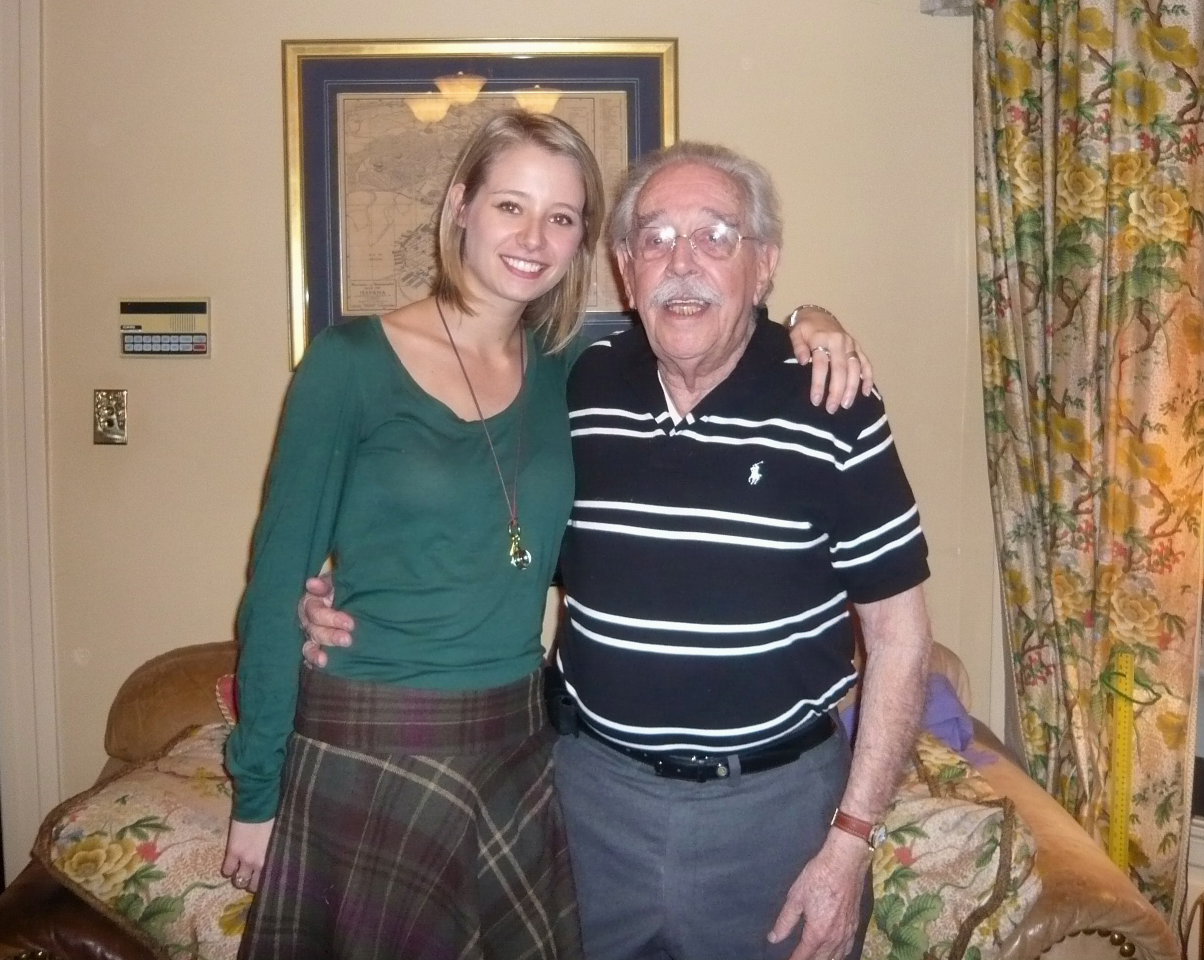 Image: Catherine Castellanos and her grandfather