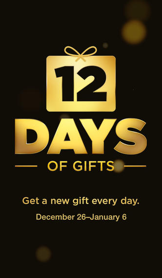 Apple's 12 Days of Gifts app is available for free on i