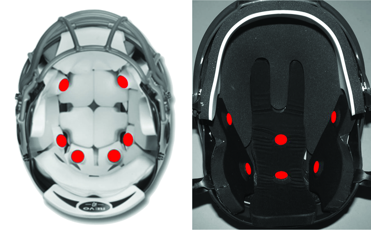 Sports helmet fitted with special sensors