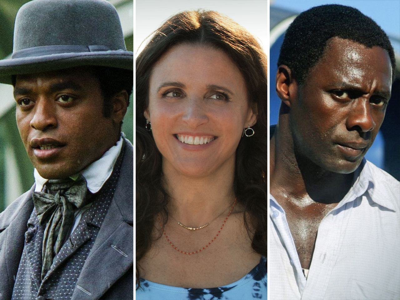 Chiwetel Ejiofor, Julia Louis-Dreyfus and Idris Elba each received two Golden Globes nominations on Thursday.