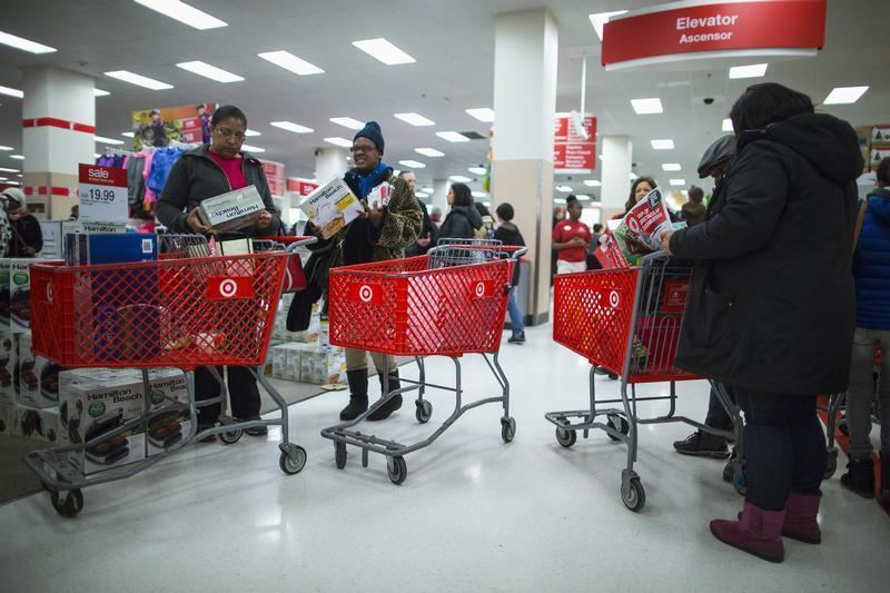 People shop inside a Target store during Black Friday sales in Brooklyn on Nov. 29. The retailer reportedly had an