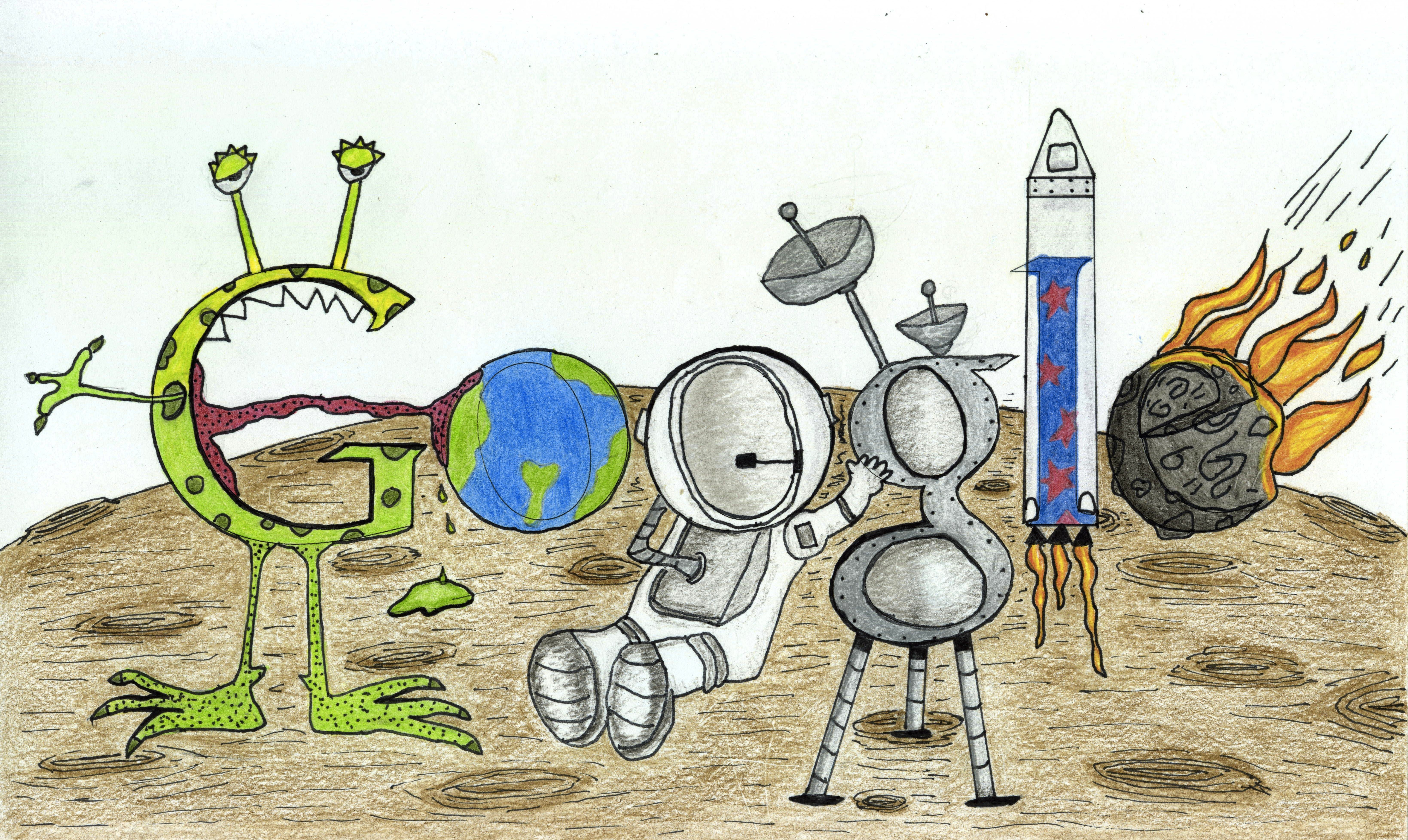 Doodle 4 Google winner: Matteo Lopez, 7