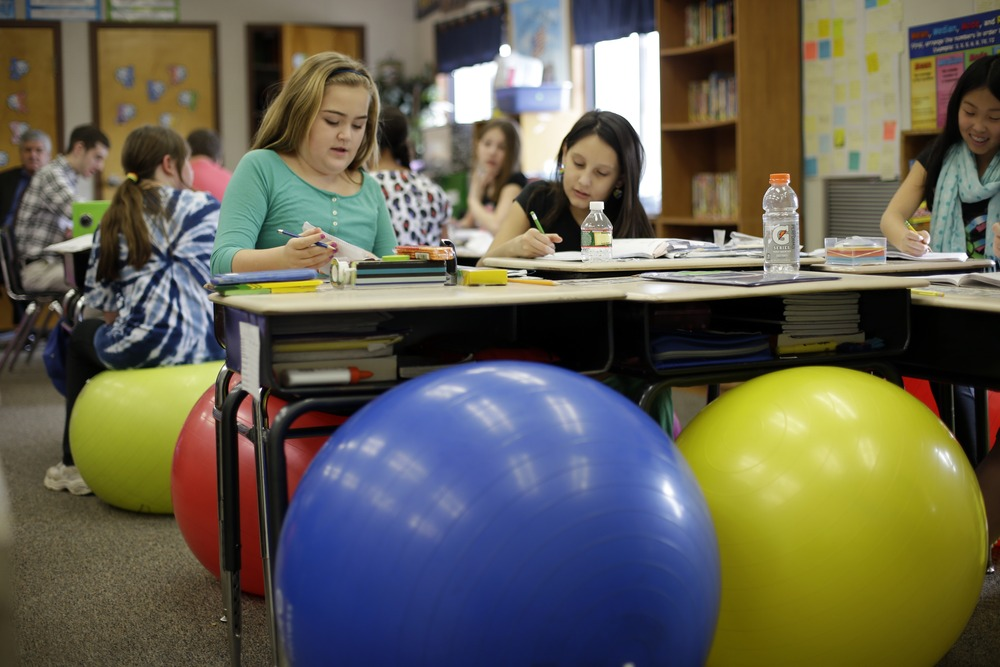 Teachers Ditch Student Desk Chairs For Yoga Balls   TODAY.com