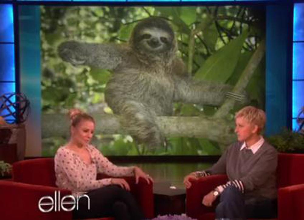 K Bell Sloth Kristen Bell cries hys...