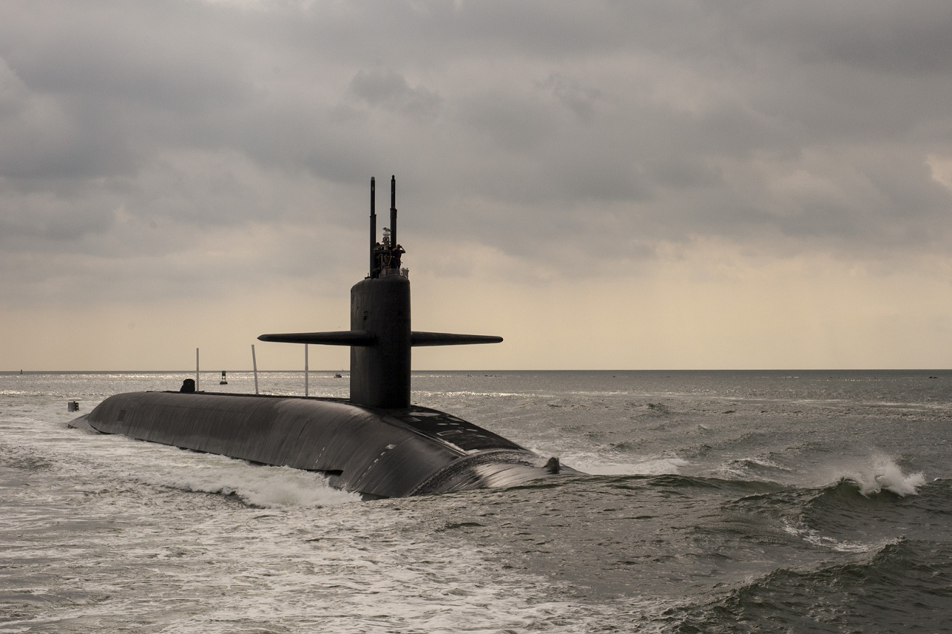 The Ohio-class ballistic missile submarine USS Maryland.