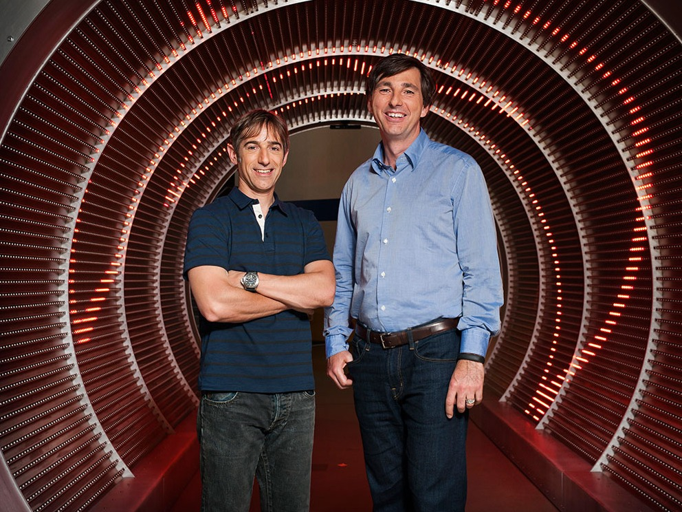 Zynga's new CEO Don Mattrick, right, with Zynga's founding CEO Mark Pincus. Mattrick is the head of Microsoft's Xbox business