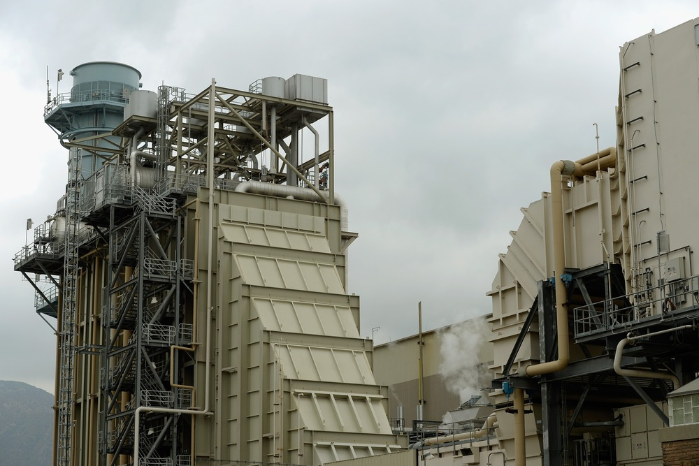 The Burbank Water and Power natural gas-fueled power plant operates on June 24, 2013 in Burbank, California.