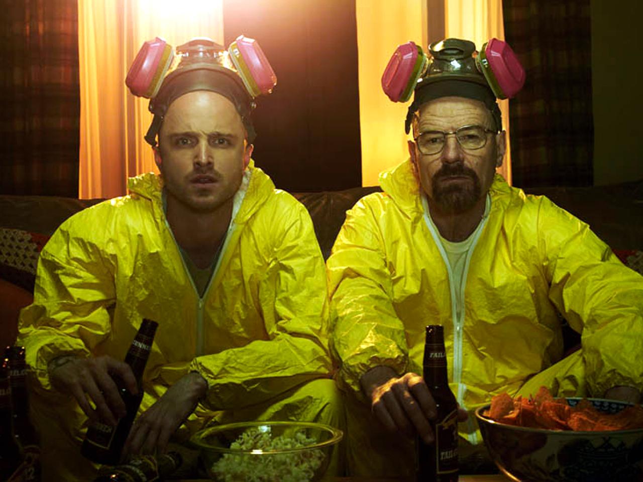 Breaking Bad Season 5 Cast Photos Jesse Pinkman (Aaron Paul) and Walter White (Bryan Cranston)