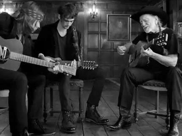 Image: Willie Nelson and sons